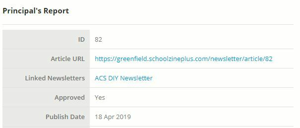 Linked Newsletters field